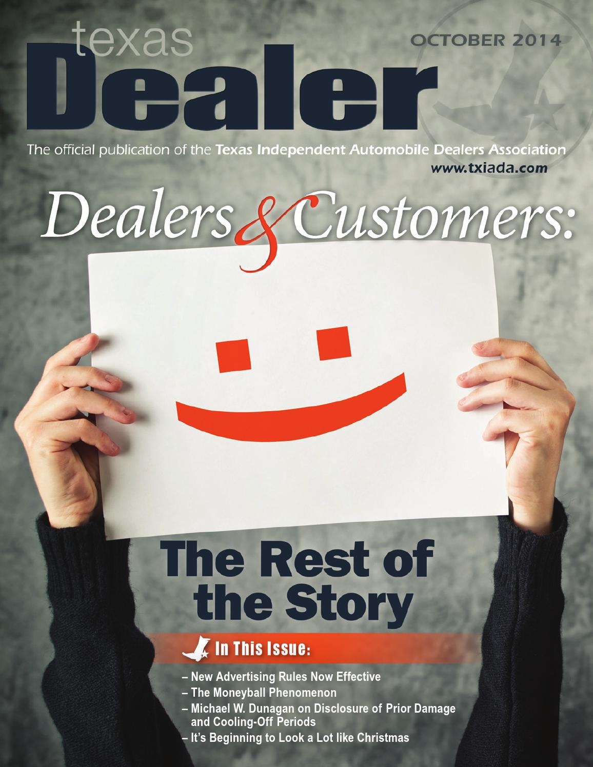 Texas Dealer, October 2014 by Texas Independent Auto Dealers Association - issuu