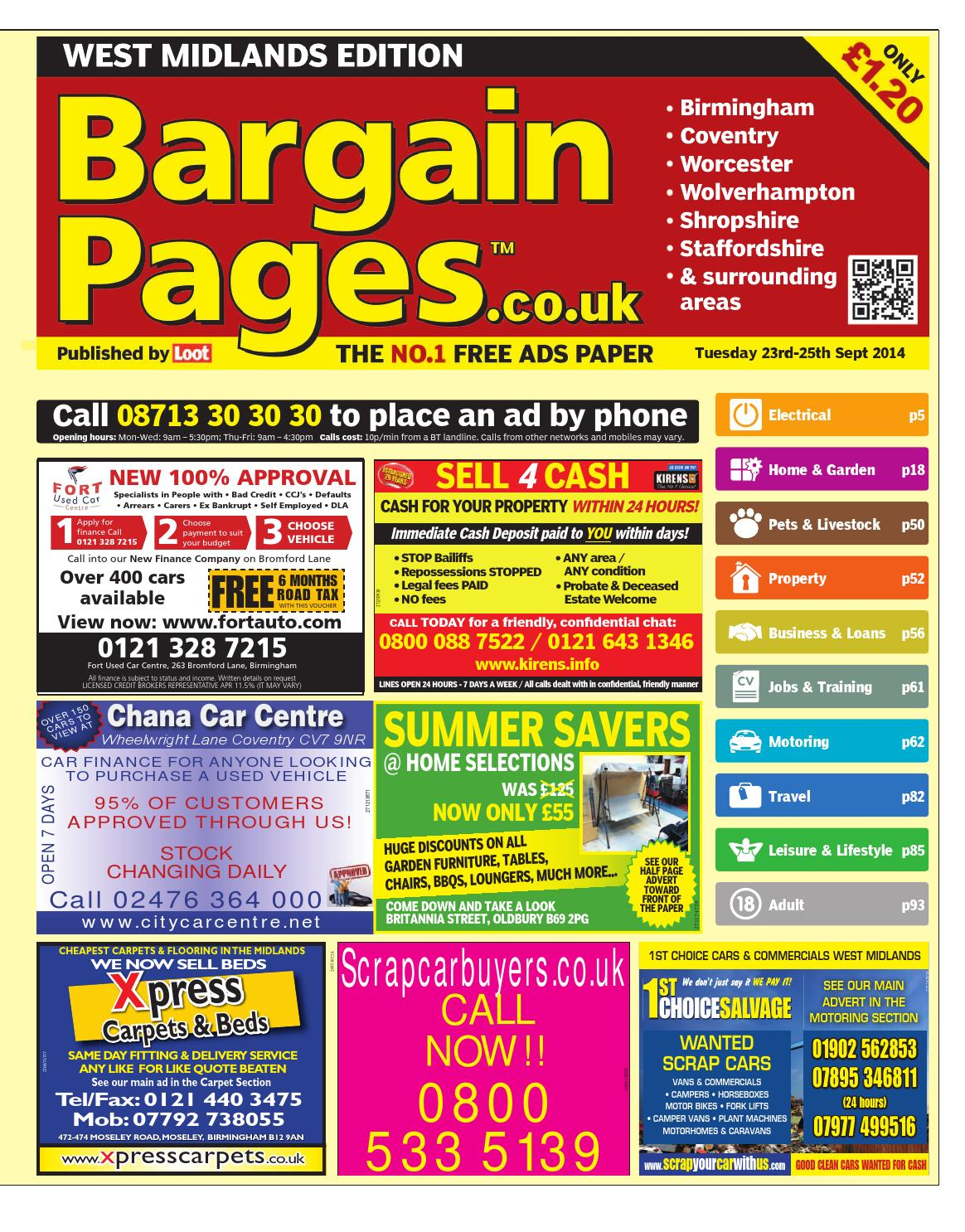 Bargain Pages Birmingham 23rd September 2014 by Loot - issuu