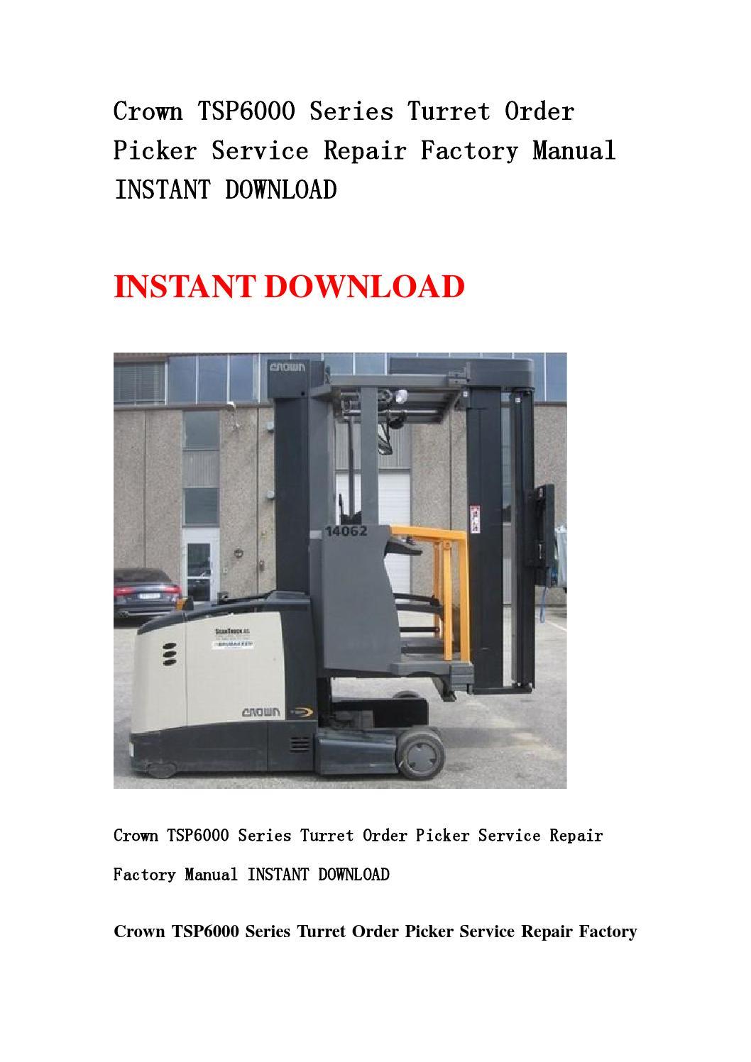 crown tsp 6000 service manual