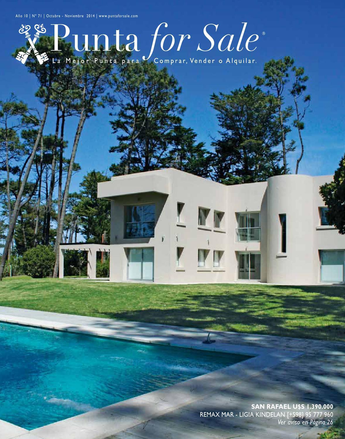 Revista de Real Estate Punta For Sale, edición Octubre - Noviembre 2014