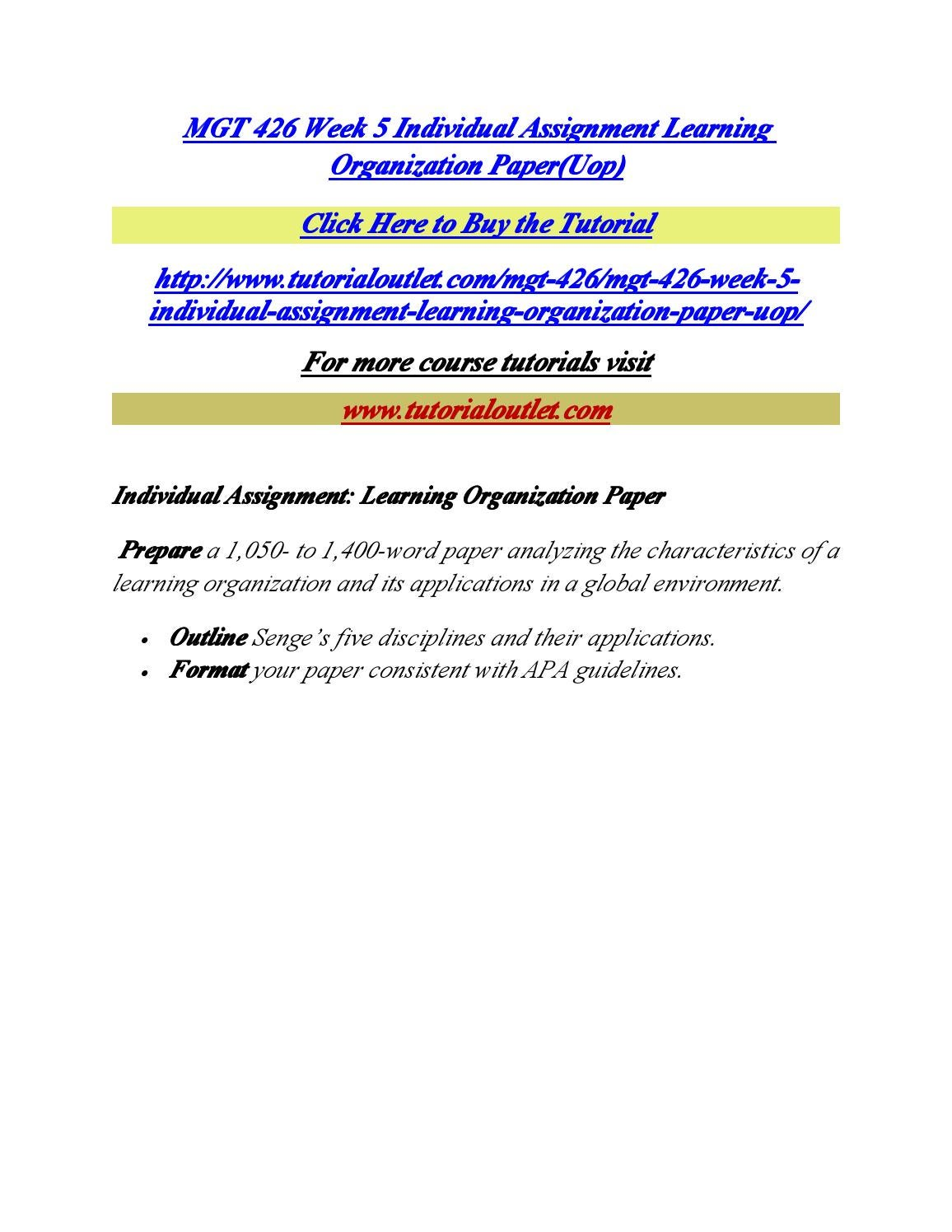 learning organization paper