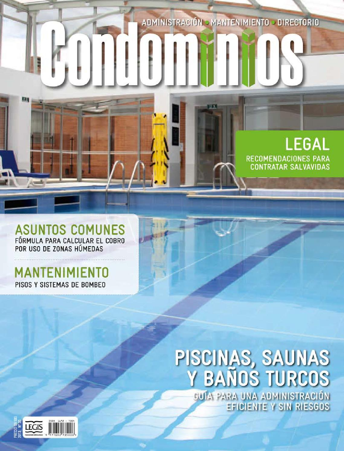 Condominios35 baja by legis sa issuu for Fabricantes de piscinas en colombia
