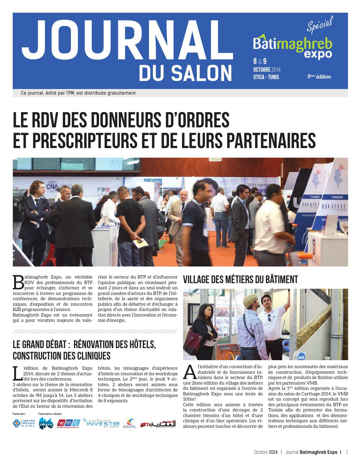 Journal du salon batimaghreb expo by tunisie place de for Salon 9 places tunisie