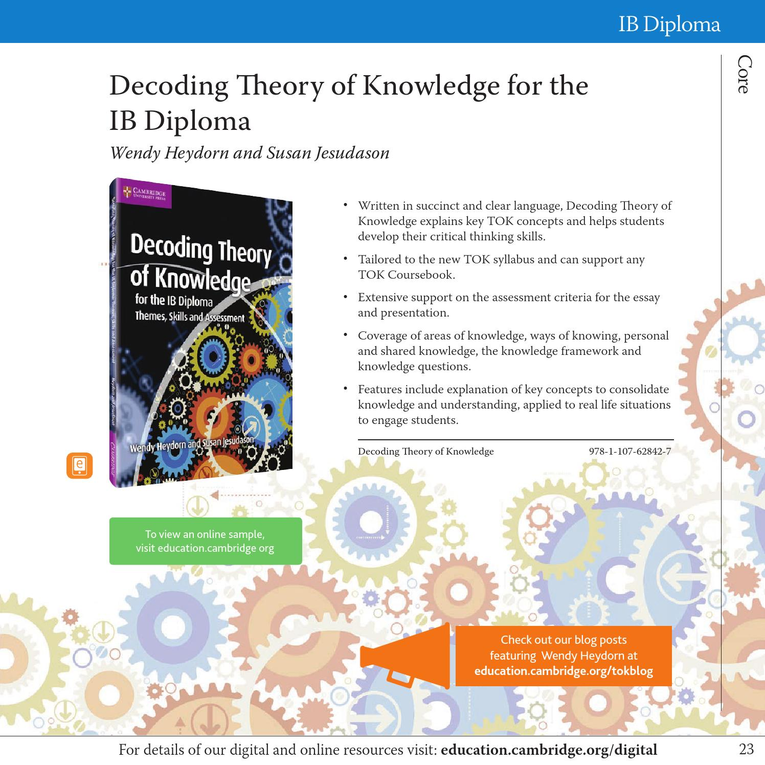 Theory of Knowledge Essay Writing Help by IB Qualified Writers
