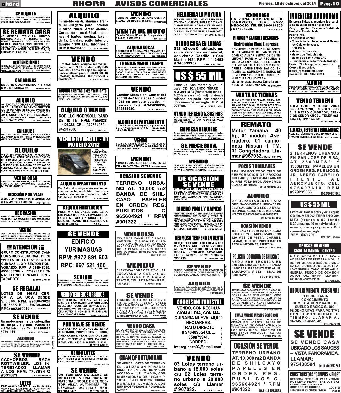 10 10 14 avisos comerciales by jonatan arias issuu for Aviso de ocacion mural