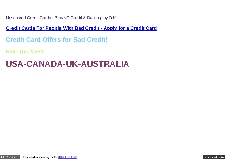 United Credit Card fer Credit Card fer