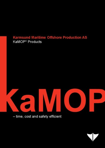 3 – KaMOP® Products - Brochures