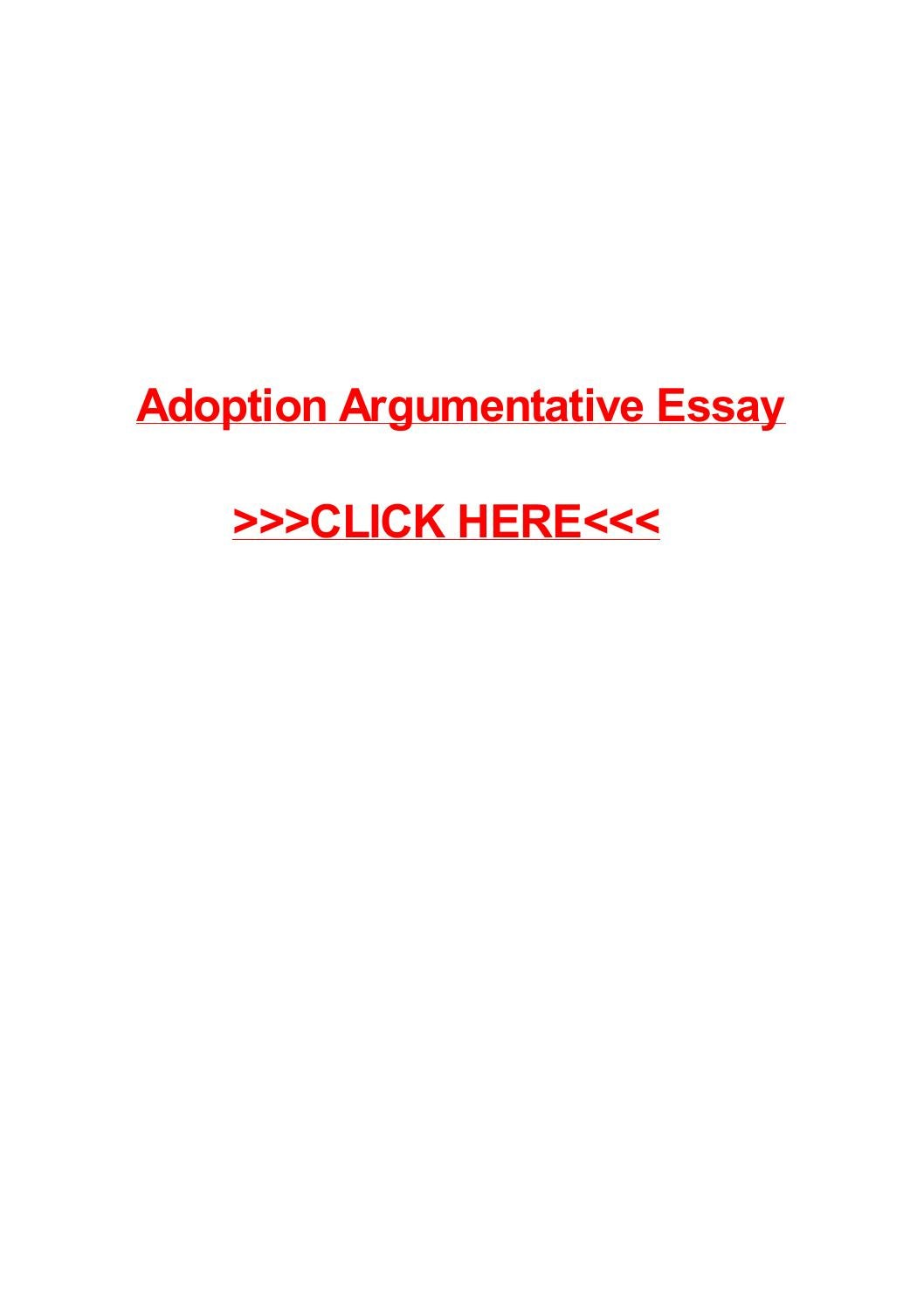 adoption argumentative essay by pilon issuu