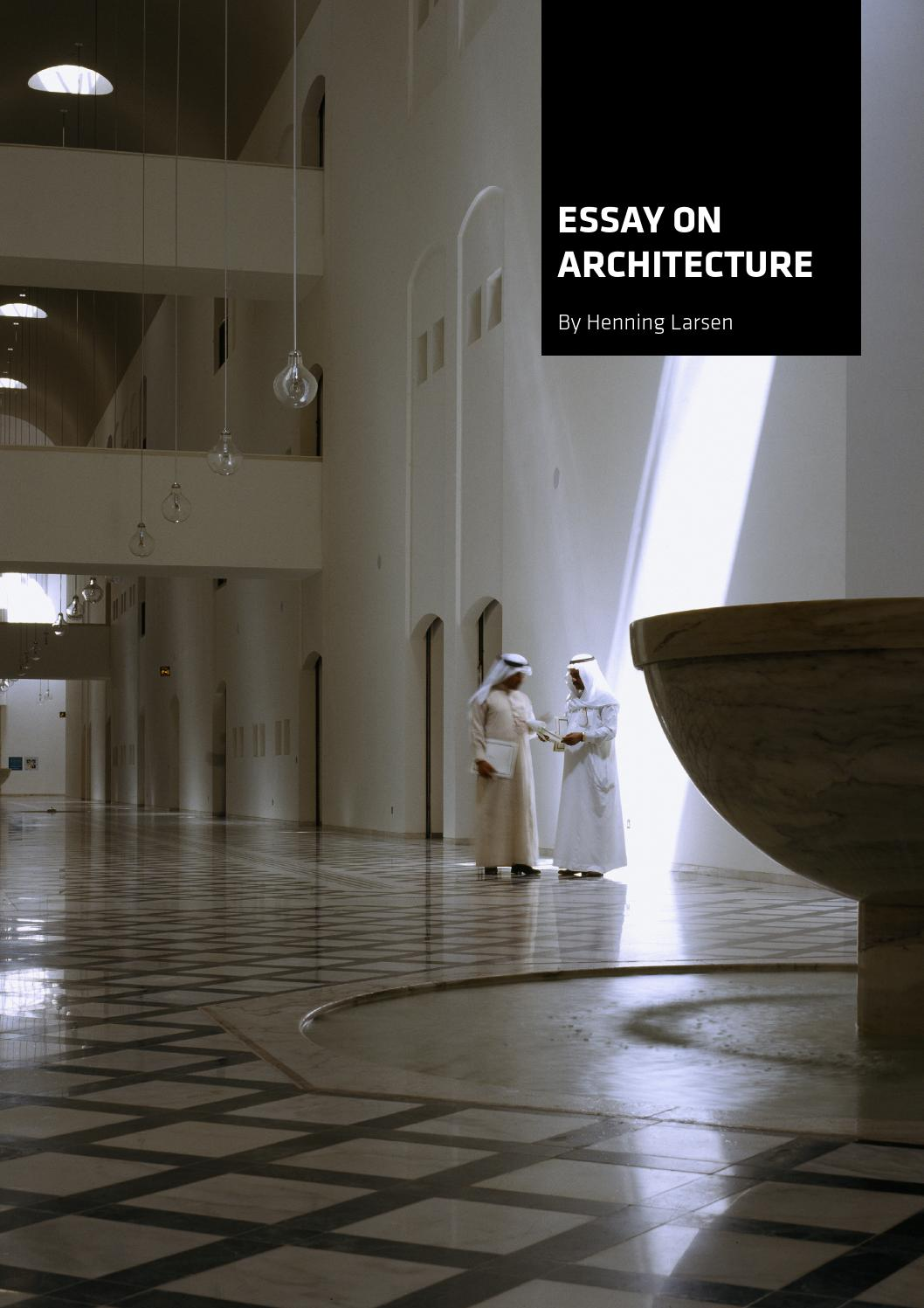 essay on architecture by henning larsen architects issuu