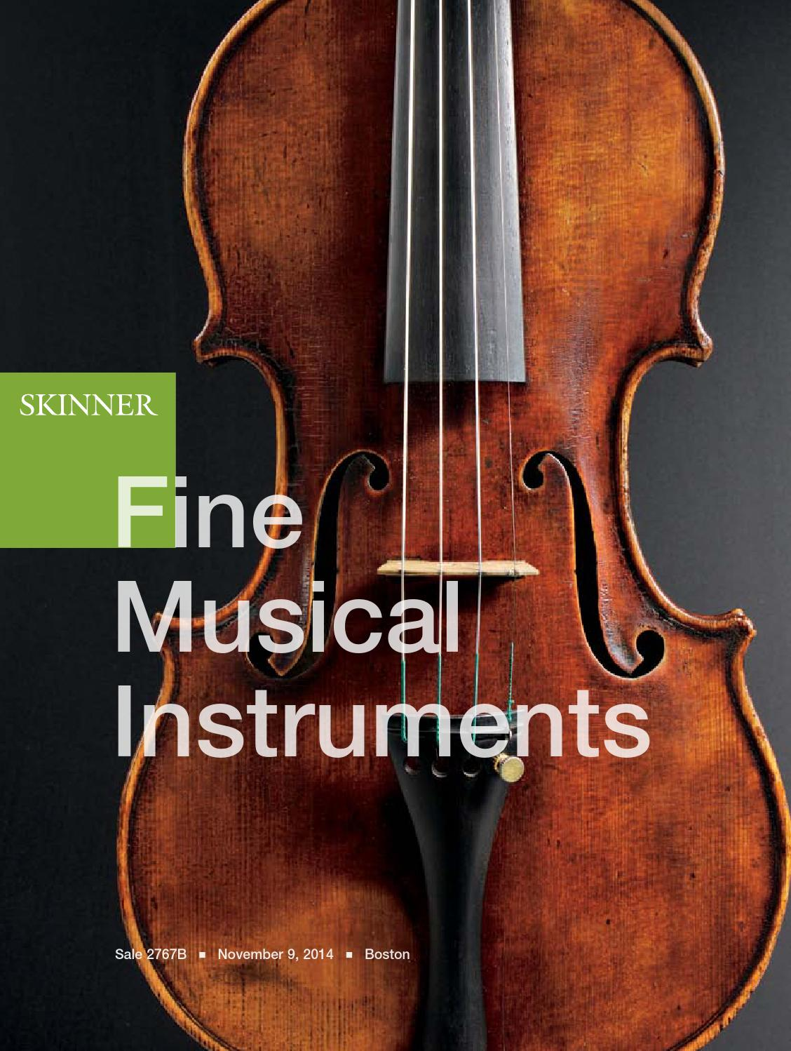 Fine Musical Instruments Skinner Auction 2767b By