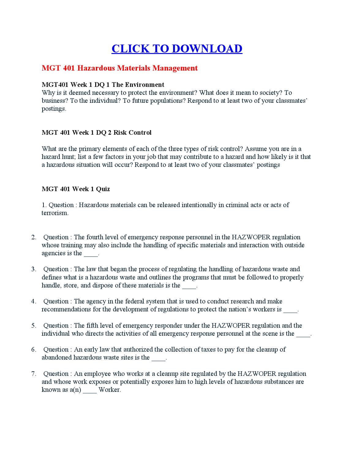 Hazardous Materials Business Plan (HMBP)