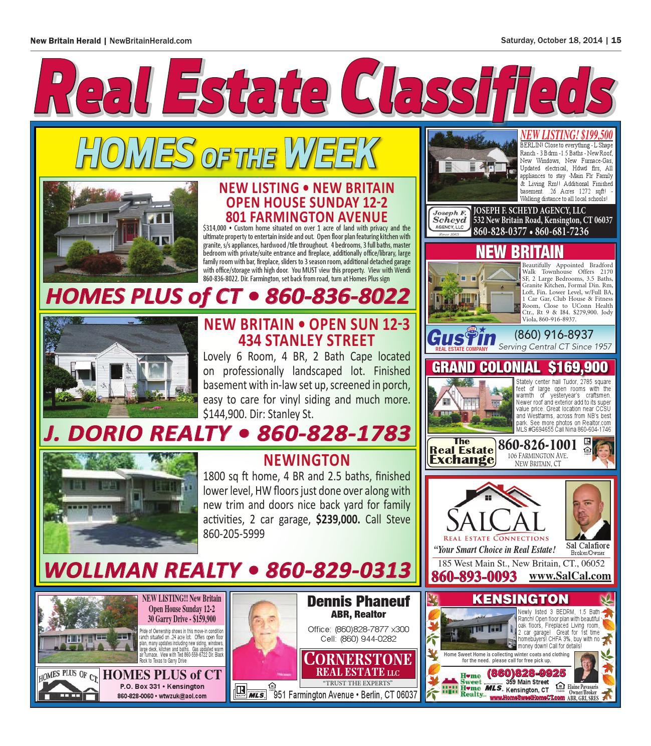 New Britain Herald Bristol Press Real Estate Book 2014