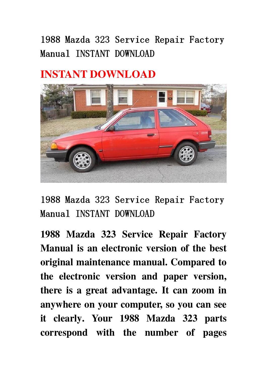 mazda 3 service manual download