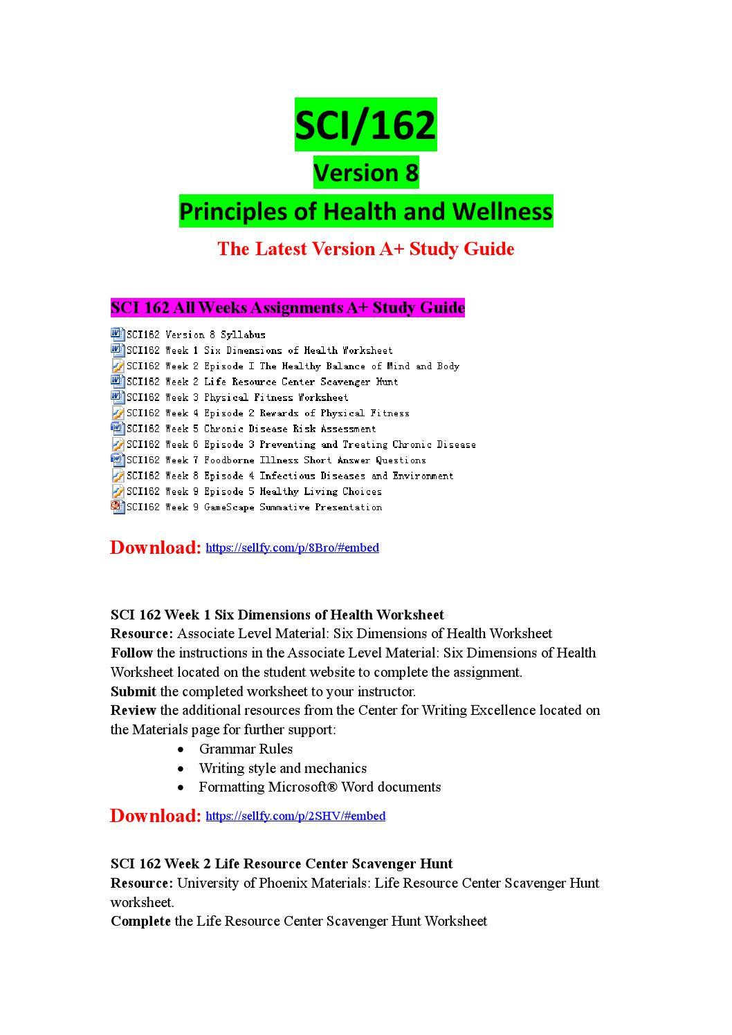 sci 162 chronic disease worksheet