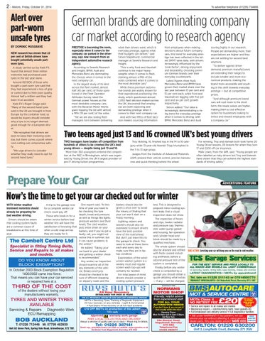 Front Cover Image for Prepare your car for winter - 31 October 2014