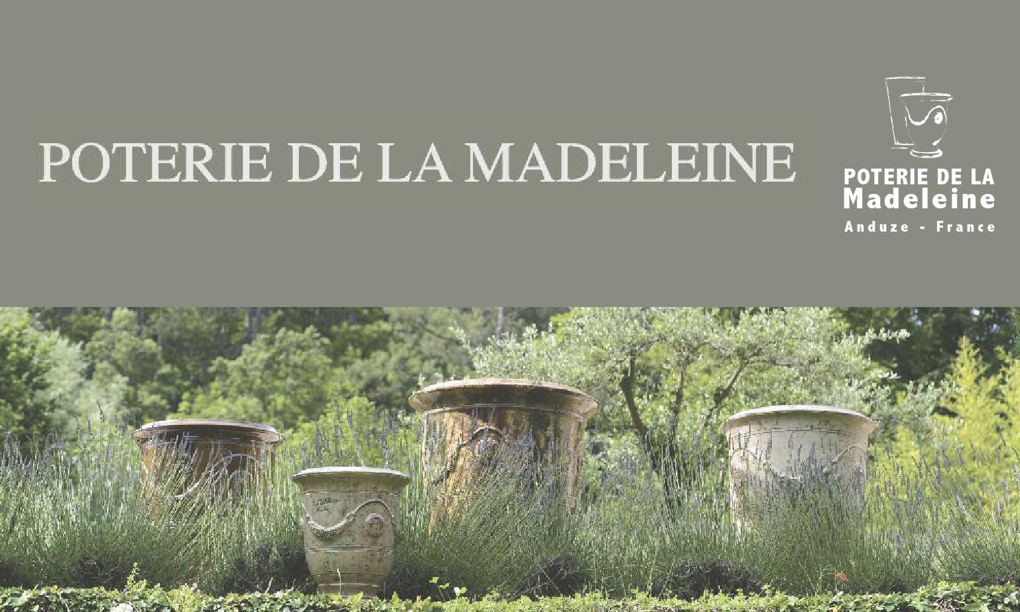 catalogue by poterie de la madeleine issuu. Black Bedroom Furniture Sets. Home Design Ideas