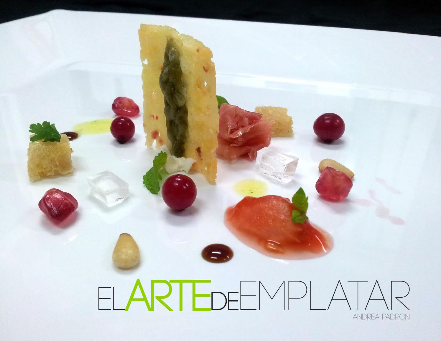 El arte de emplatar by dise o grafico proyectos de for Tecnicas de alta cocina