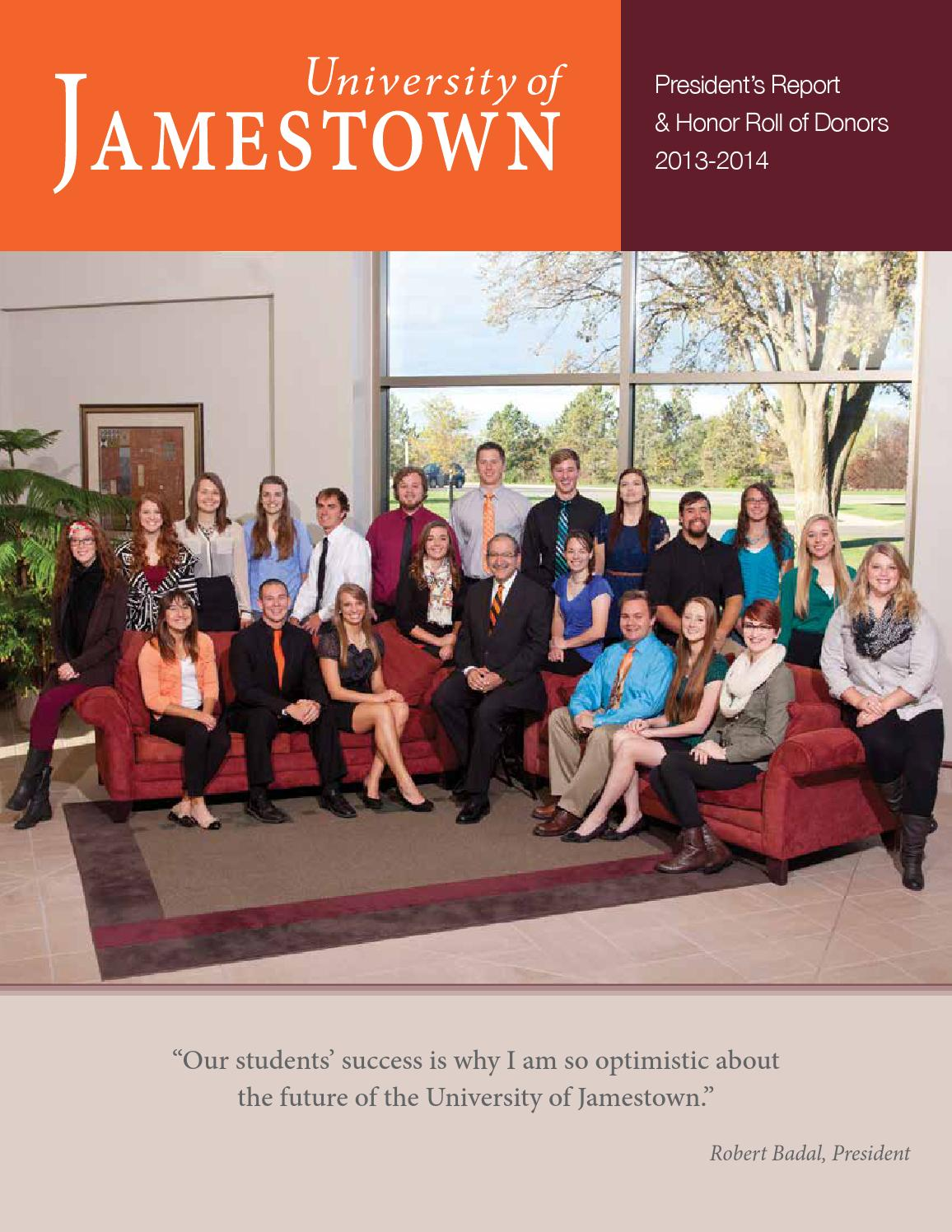 University Of Jamestown President S Report 2013 2014 By