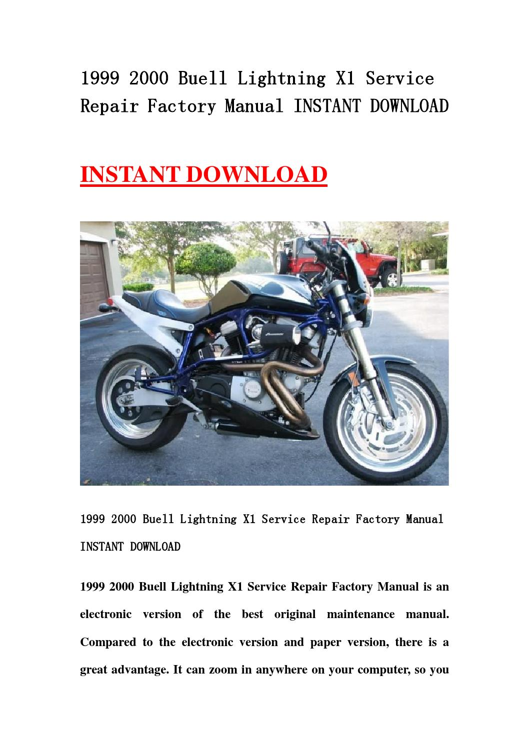 1999 2000 buell lightning x1 service repair factory manual. Black Bedroom Furniture Sets. Home Design Ideas