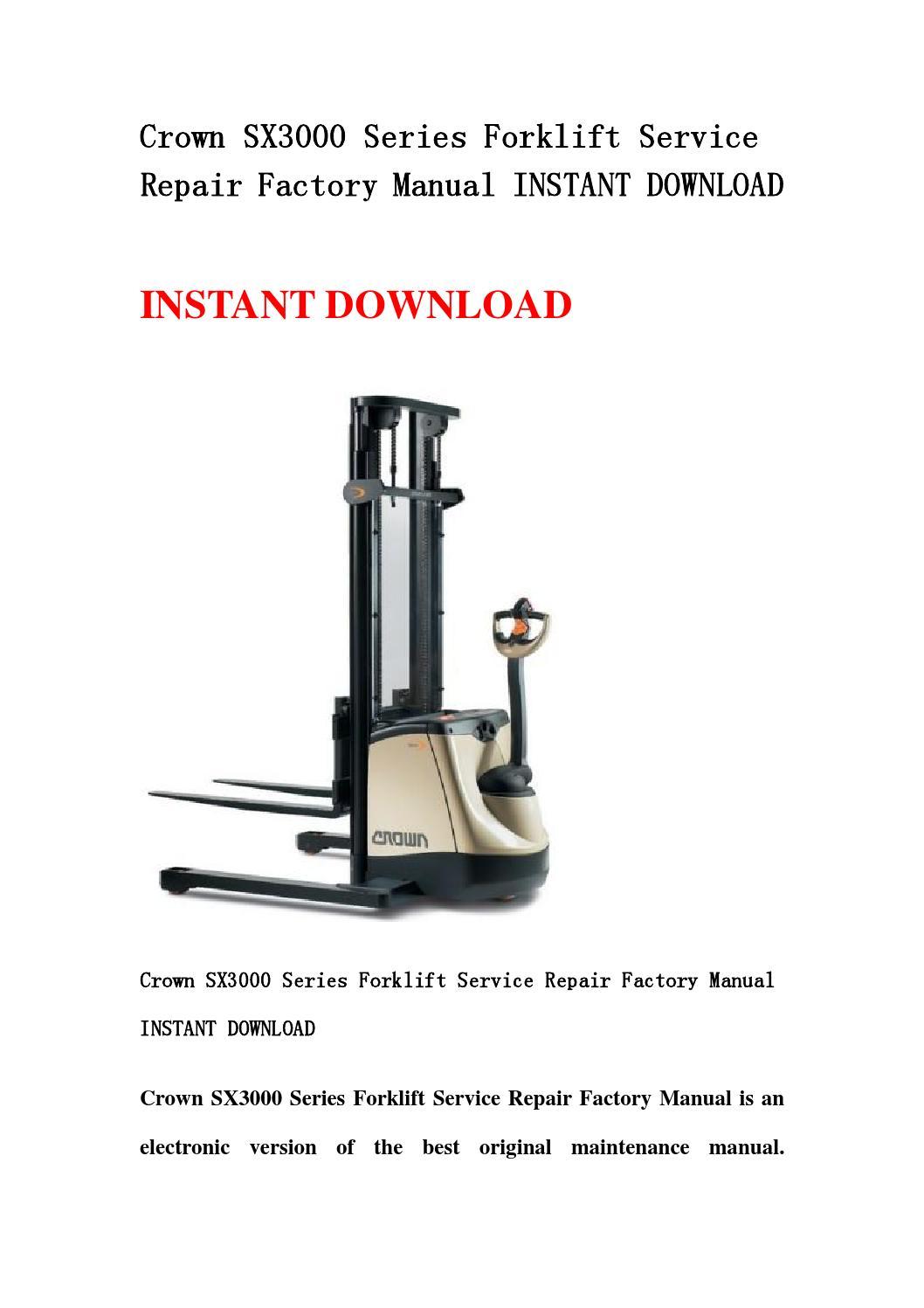 crown rc 3000 service manual