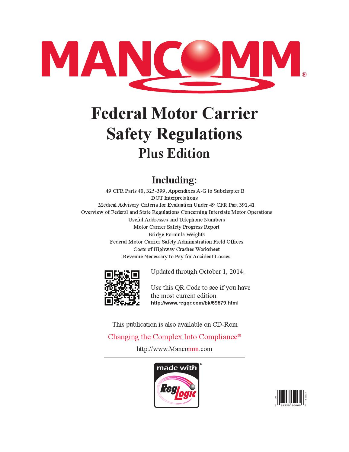 2014 October Federal Motor Carrier Regulations By Benjamin Kuriscak Issuu