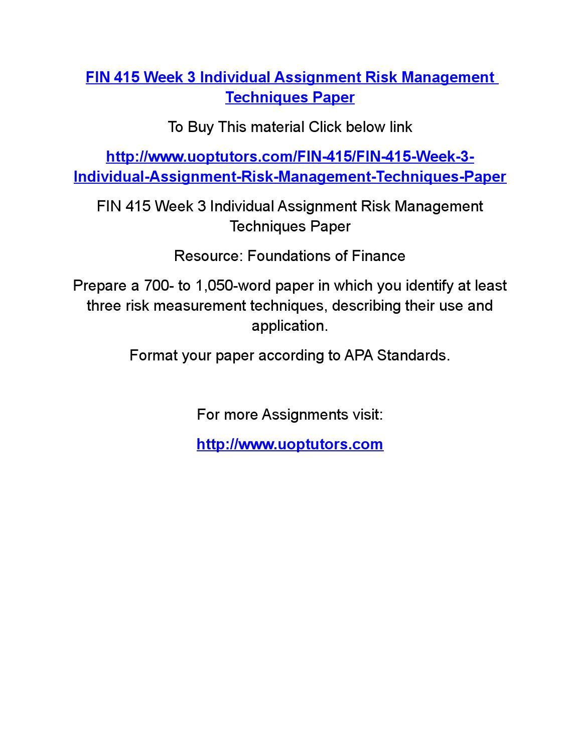 Risk essay