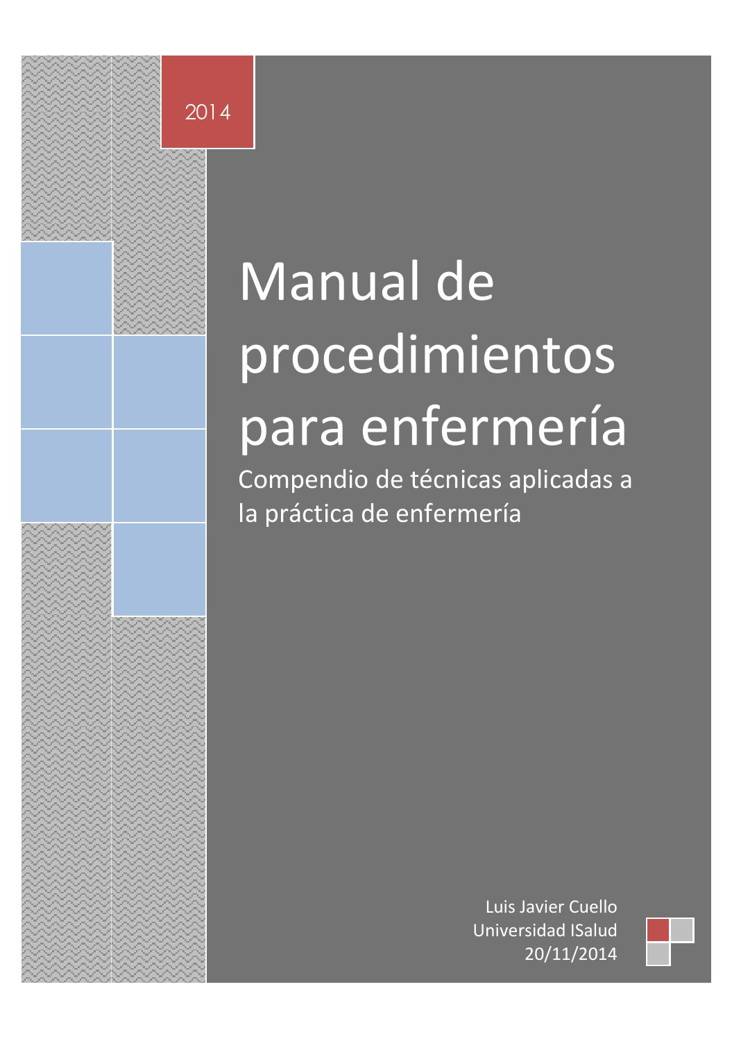 manual de procedimientos de enfermeria psiquiatrica pdf