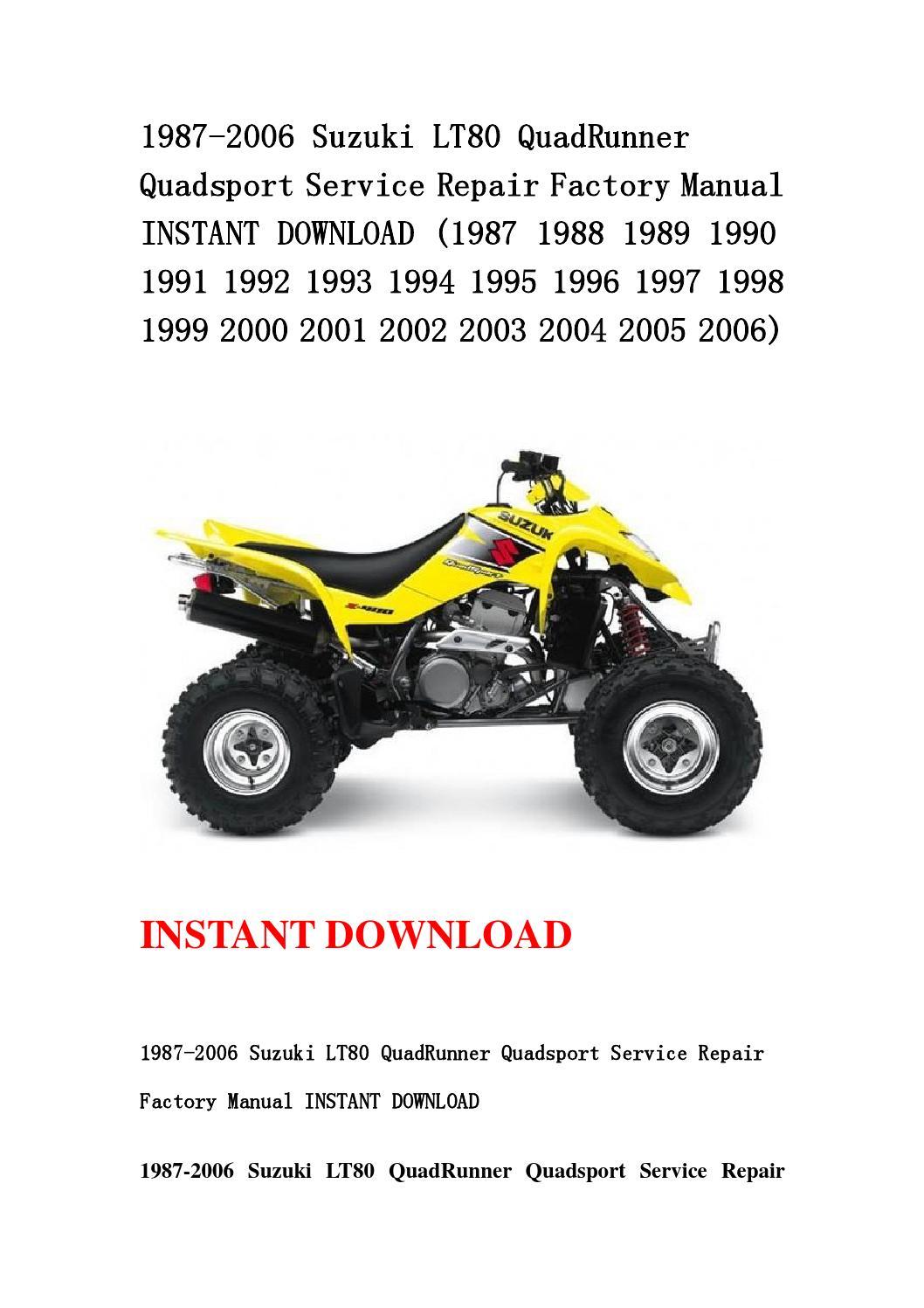 suzuki quadrunner 250 service manual