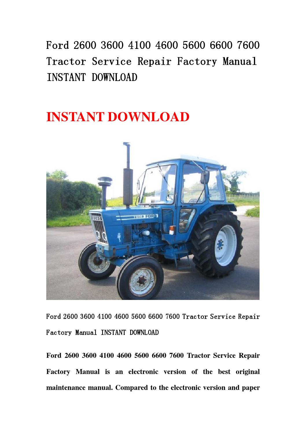 2600 Ford Tractor Specifications : Ford repair manual the best free software for your