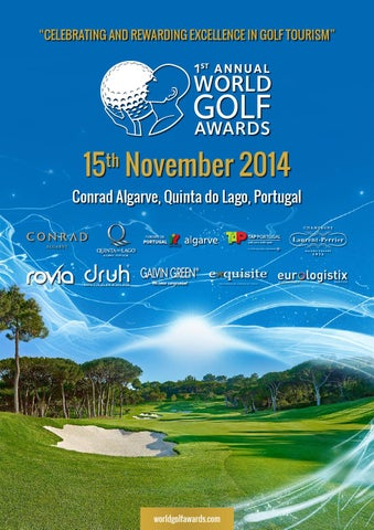 World Golf Awards Gala Ceremony 2014 programme