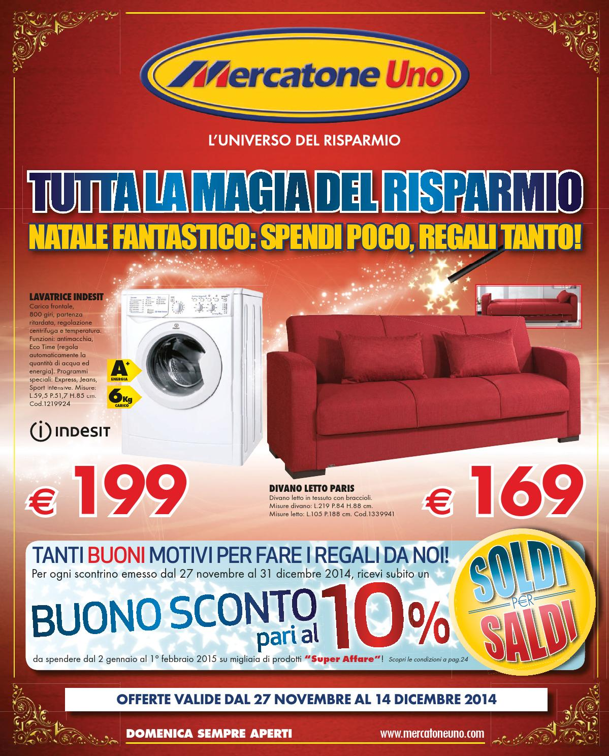 Mercatone uno catalogo natale2014 by mobilpro issuu for Mercatone uno divano