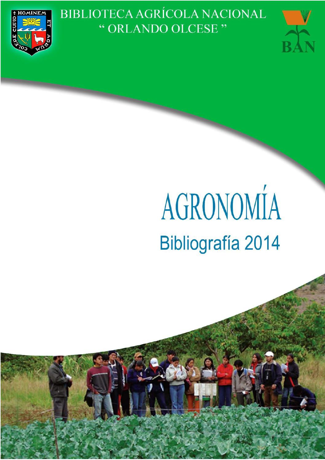 Facultad de agronom a by biblioteca agr cola nacional issuu for Horario peru wellness