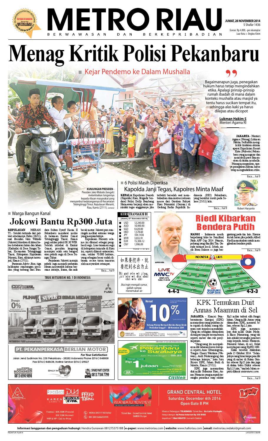 28112014 By Harian Pagi Metro Riau Issuu