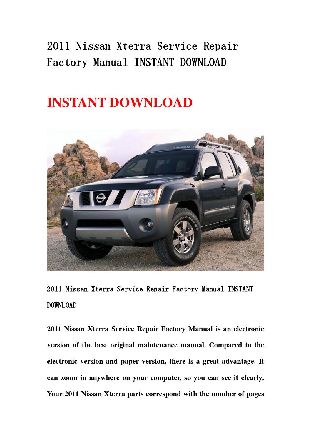 2002 nissan xterra owner's manual