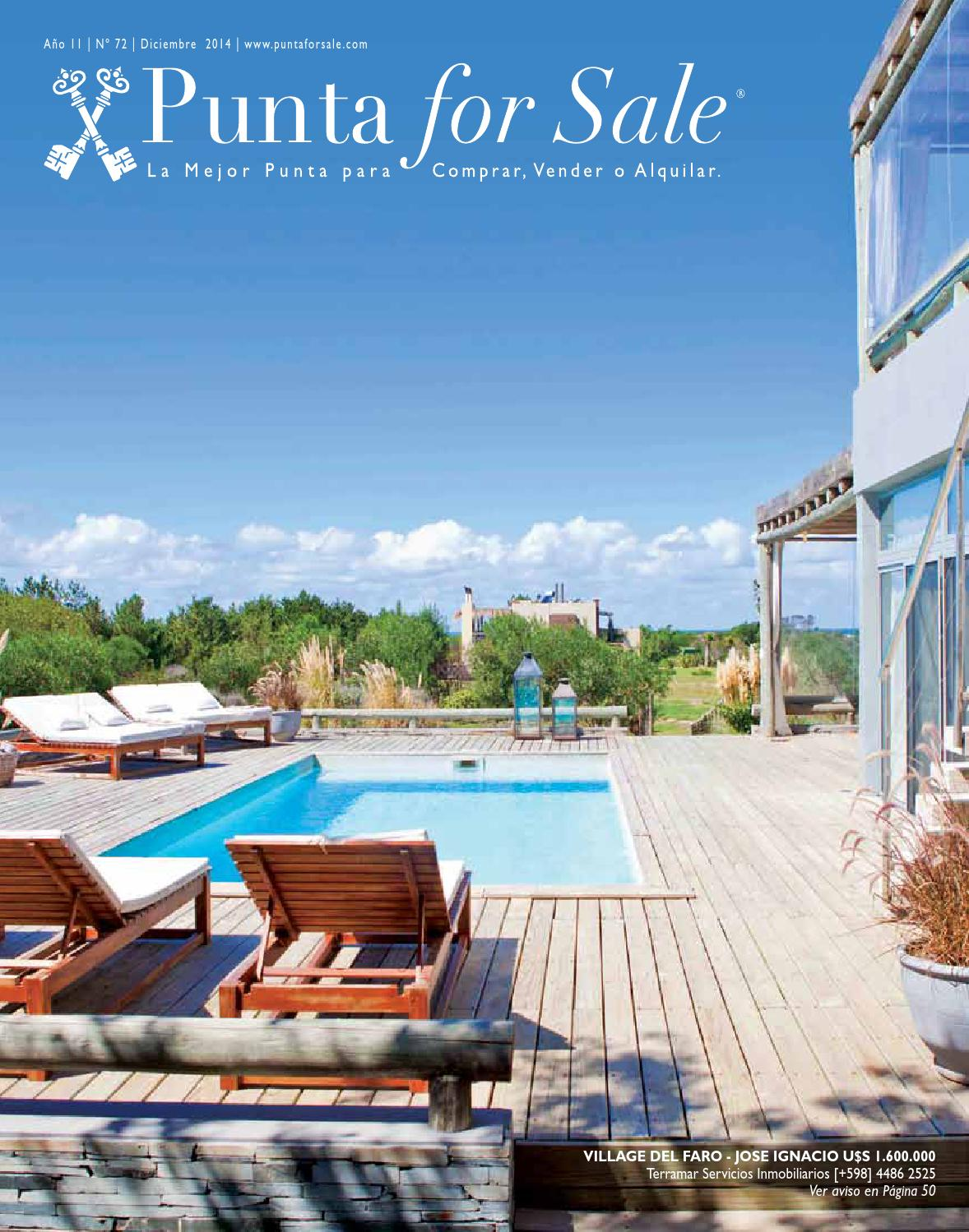 Revista de Real Estate Punta For Sale, edición Diciembre 2014