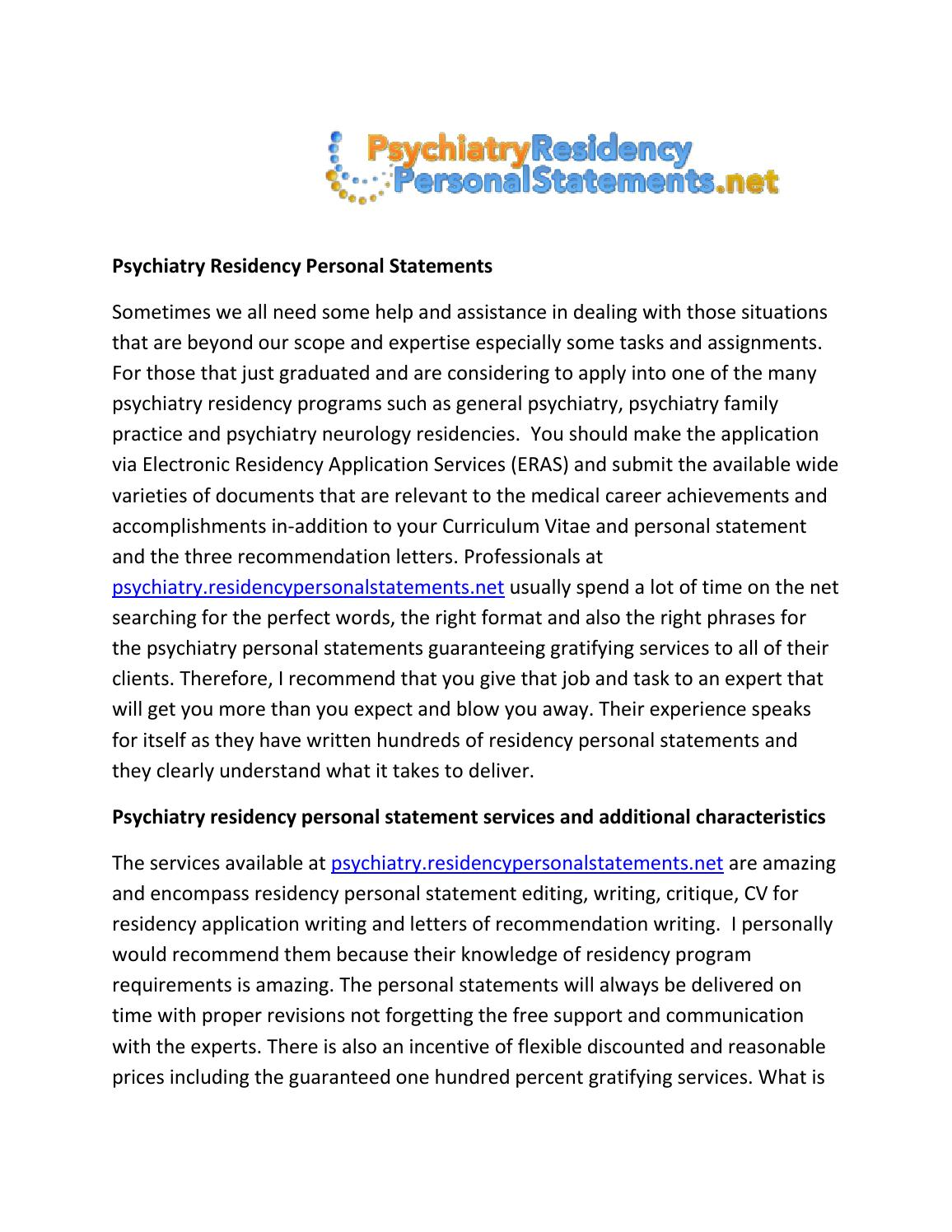 residency application personal statement help Learn how the pediatric residency personal statement fits into the application process and how our service can assist you.