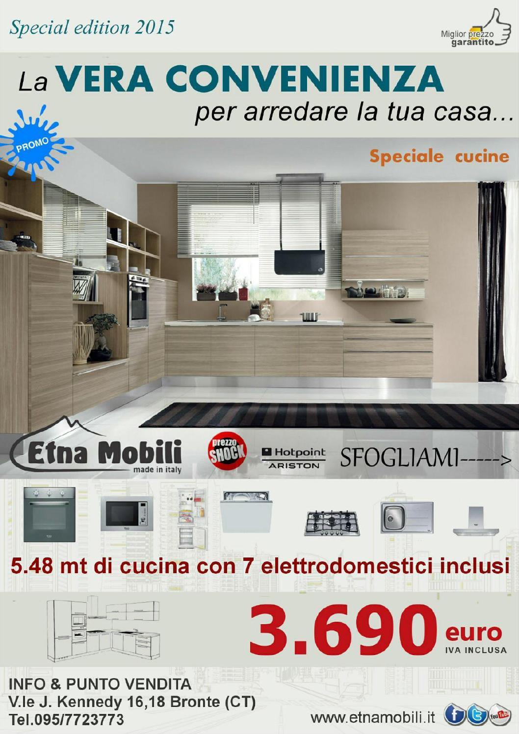 Volantino brochure etna mobili 2014 2015 by etna mobili for Mobili catania offerte