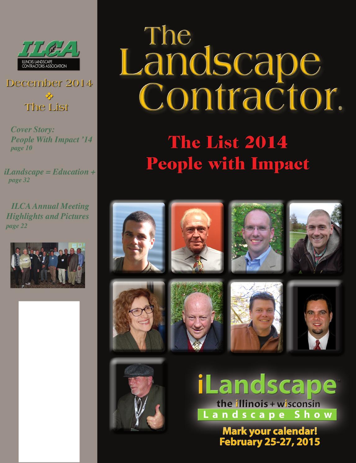 The Landscape Contractor Dec 2014 Digital By Association