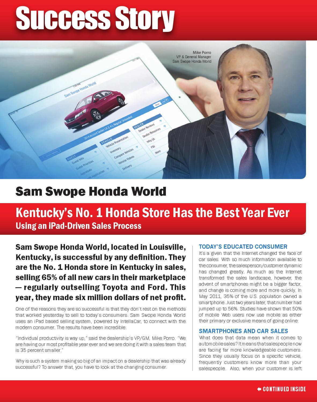 Sam Swope Honda >> AutoSuccess December 2014 Success Story by AutoSuccess - issuu