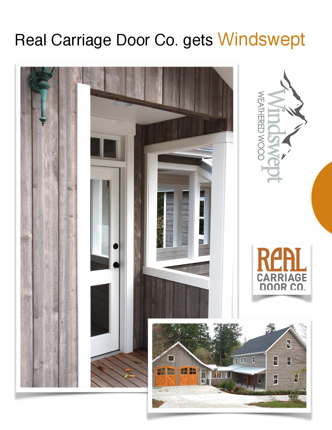 Real Carriage Door Issuu Barn Gray By Windswept By