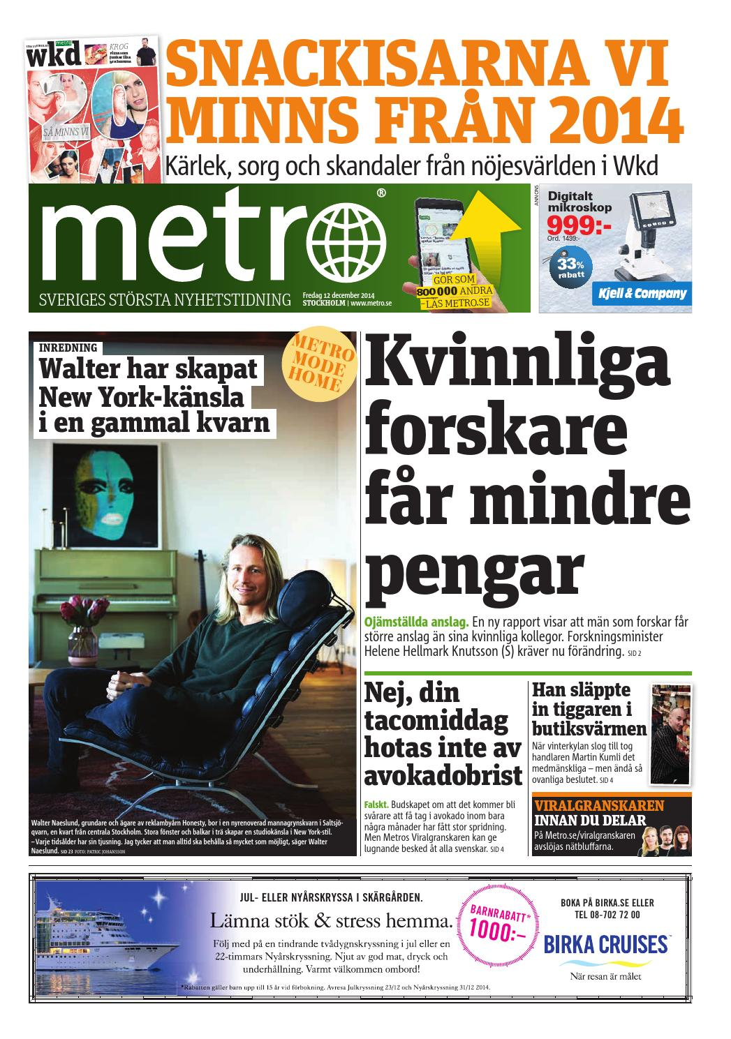 20141212_se_stockholm by Metro Sweden - issuu