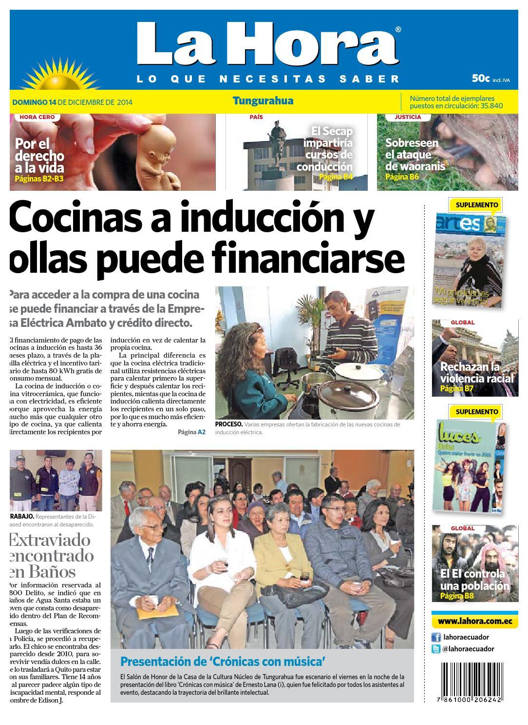 Ambato14diciembre2014 by diario la hora ecuador issuu - Consumo cocina induccion ...