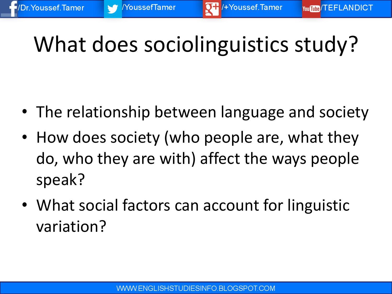 the scope of sociolinguistics essay