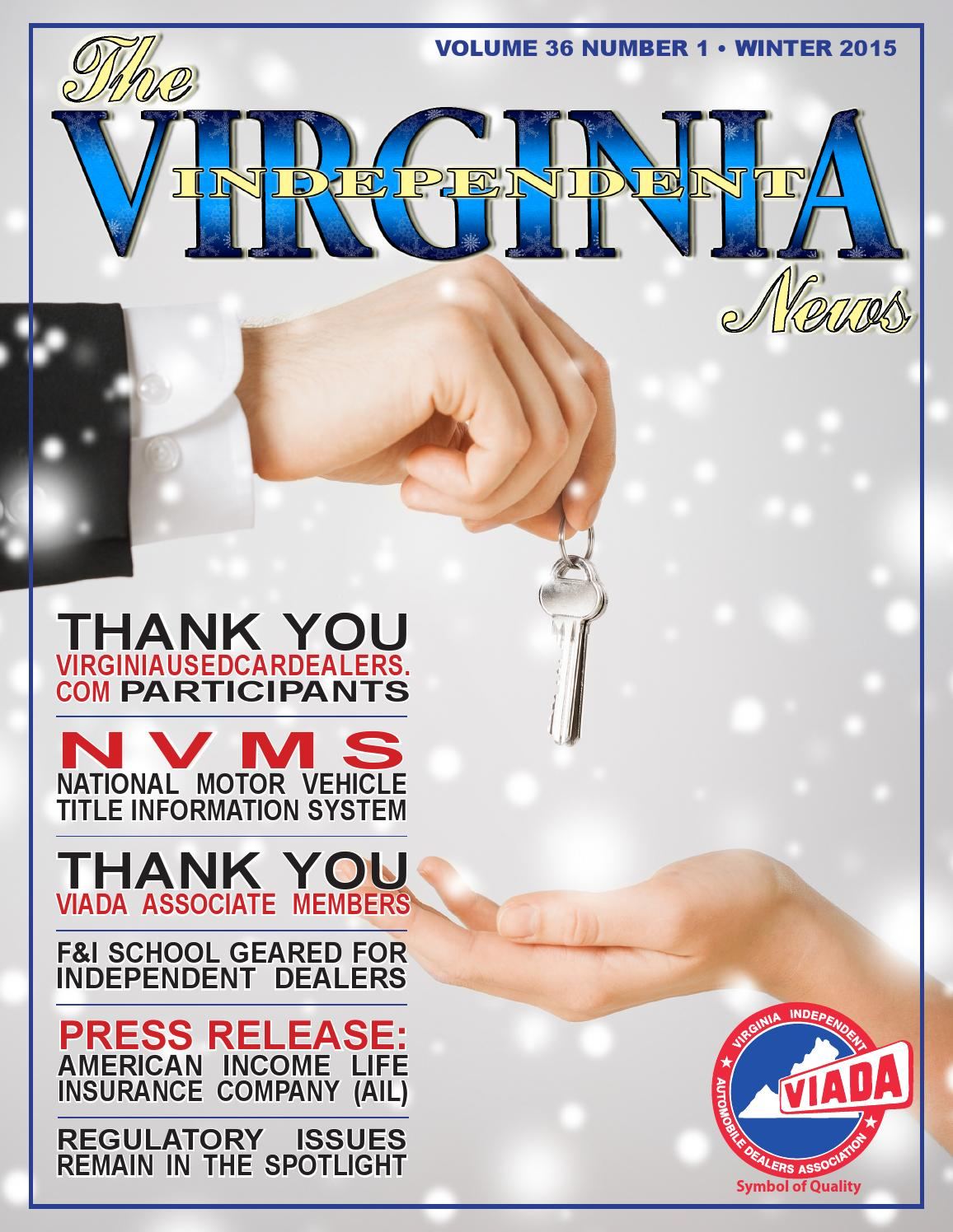 The virginia independent news winter 2015 by va for The national motor vehicle title information system