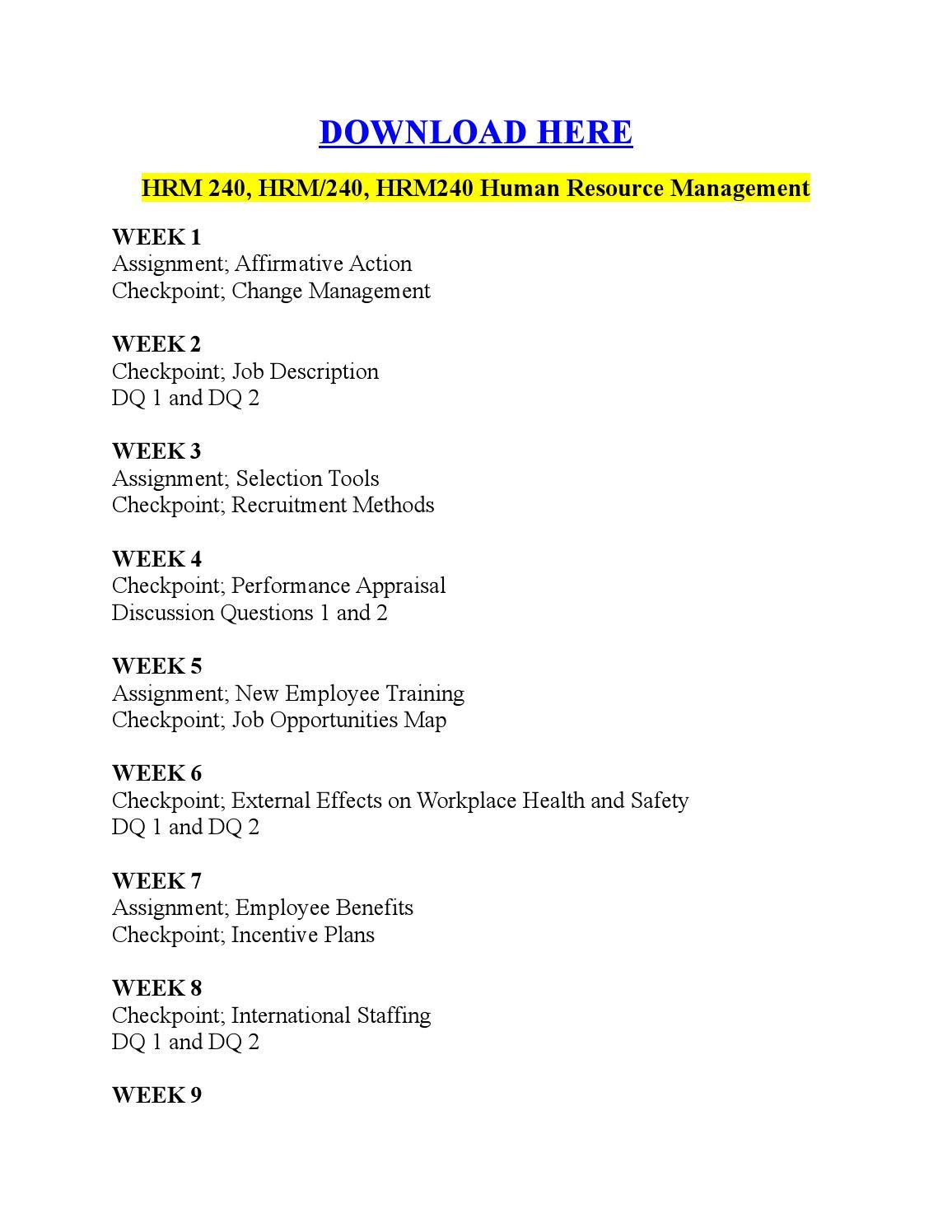 hrm 240 international staffing