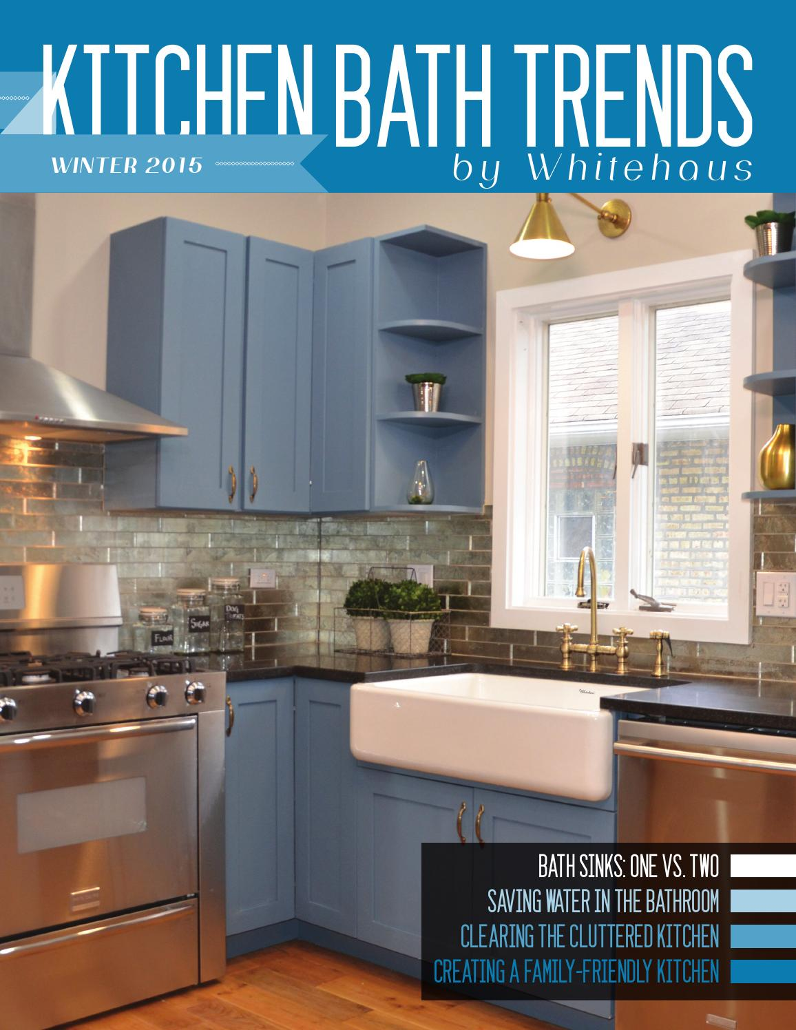 Kitchen bath trends magazine winter 2015 by kitchen bath for Trend bathroom and kitchen