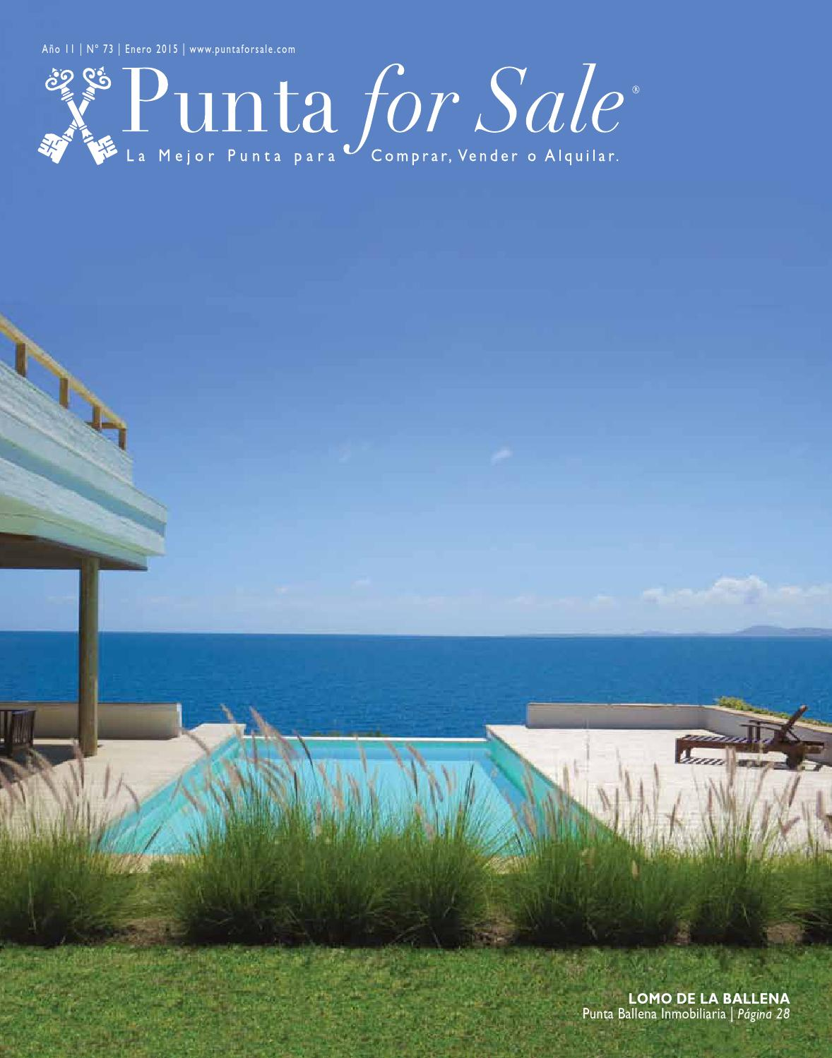 Revista de Real Estate Punta For Sale, edición Enero 2015