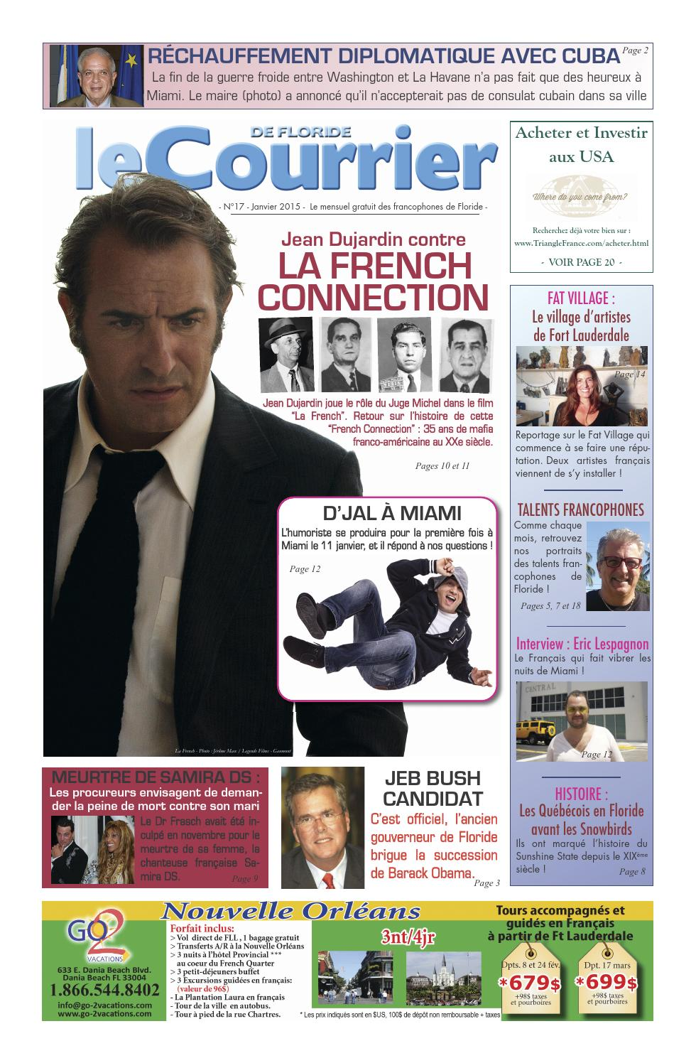 Courrier de floride janvier 2015 by courrierusa issuu for Jean dujardin religion