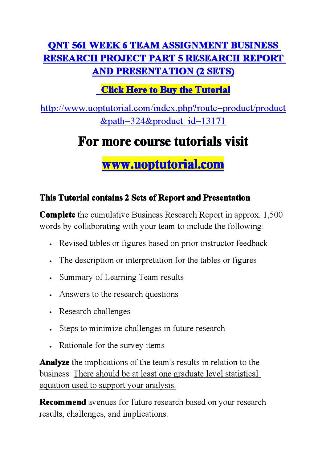 business research methods part iii paper