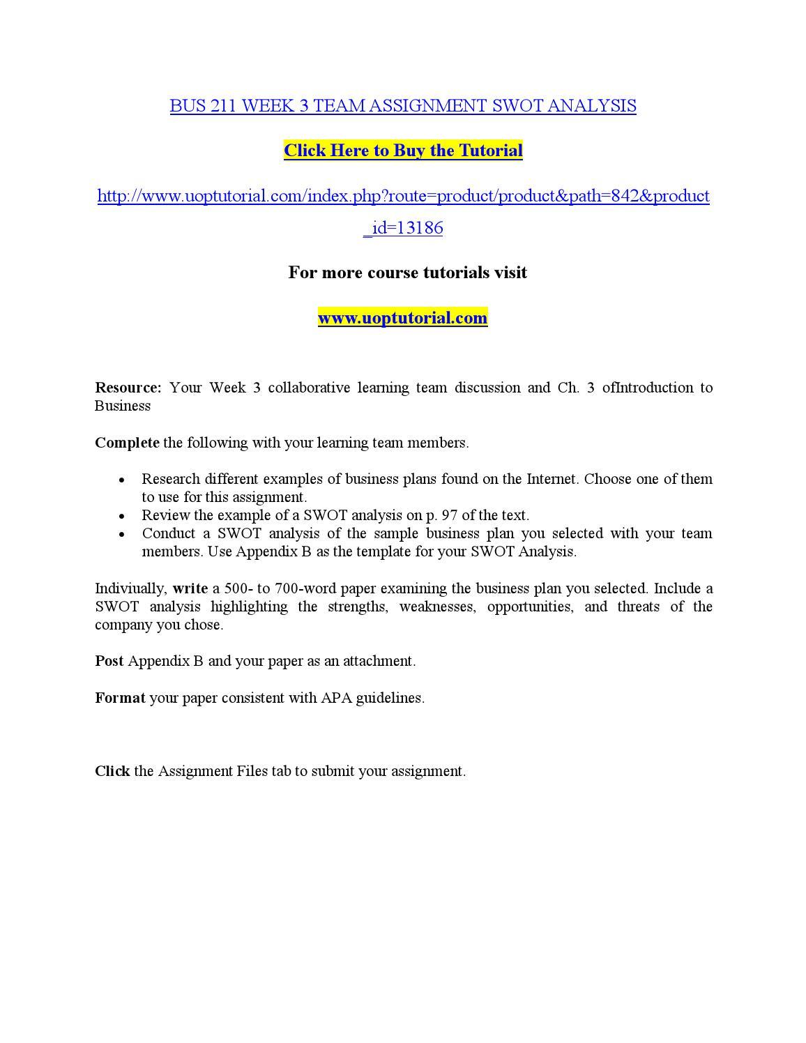 SAINT LEO MKT301 MODULE 3 ASSIGNMENT Marketing Plan: SWOT Analysis